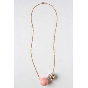 Anthropologie Statement Rhinestone Ball Necklace